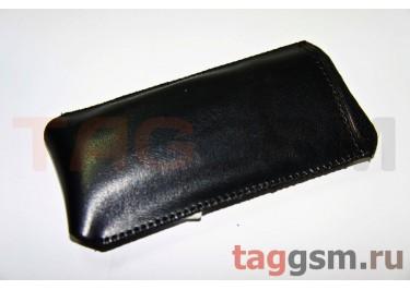 Чехол  с язычком K286 кожа Nok 6500s (черный)