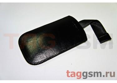 Чехол  с язычком K286 кожа Nok 7210s (черный)