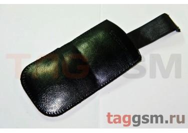 Чехол с язычком кожа Soni Erik J700 (черный)