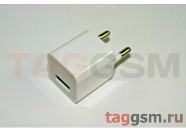 СЗУ для iPhone 4 (маленький блок питания ) 1000mA белый