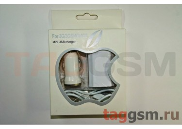 Комплект 3 в 1 для iPod / iPad / iPhone блок авто сеть + USB в коробке