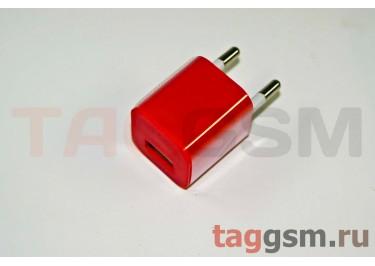 СЗУ для iPhone 4 (маленький блок питания ) 1000mAкрасный