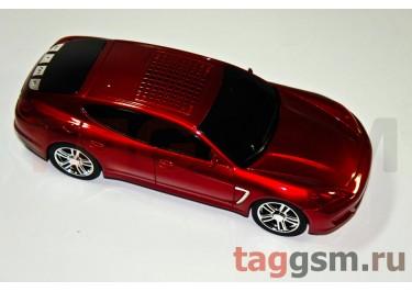 "Колонка машинка Porsche Panamera"" 3 динамика (LCD,FM,USB,TF) красная (распродажа)"