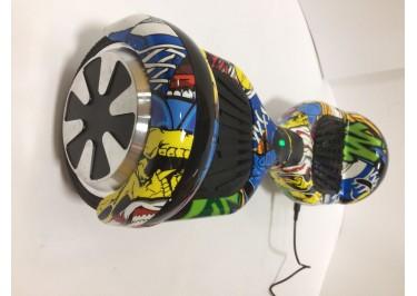Гироскутер Smart Balance 6,5''. BT-плеер, LED ходовые огни, АКБ samsung, цвет желтый-граффити