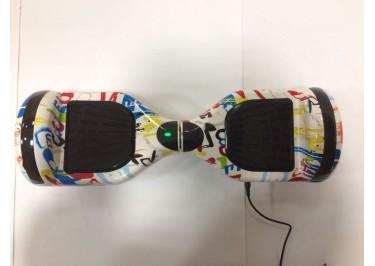 Гироскутер Smart Balance 6,5''. BT-плеер, LED ходовые огни, АКБ samsung, цвет белый-граффити