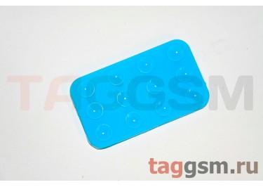 Автомобильный коврик для телефона на присосках голубой