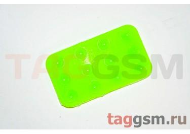 Автомобильный коврик для телефона на присосках зелёный
