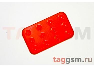 Автомобильный коврик для телефона на присосках красный