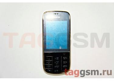 Корпус Nokia 202 со средней частью + клавиатура (белый)