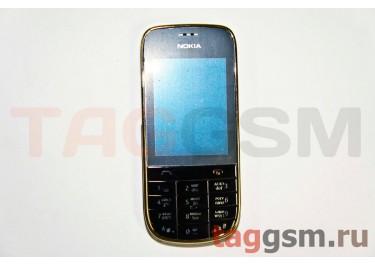 Корпус Nokia 202 со средней частью + клавиатура (черный)