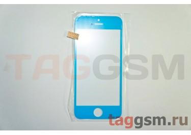 Стекло для iPhone 5 (голубой)