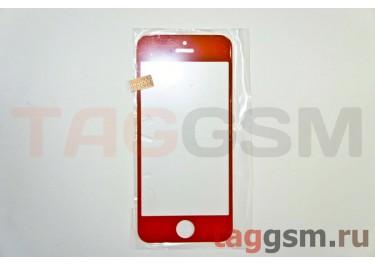 Стекло для iPhone 5 / 5C / 5S (оранжевый)