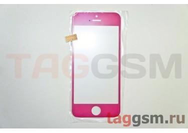 Стекло для iPhone 5 / 5C / 5S (розовый)