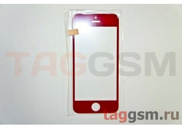 Стекло для iPhone 5 / 5C / 5S (красный)