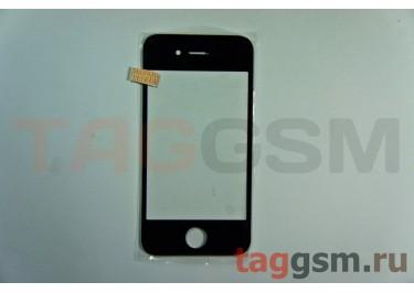 Стекло для iPhone 4 / 4S (черный)