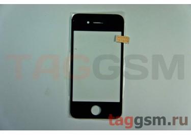 Стекло для iPhone 4s (черный)