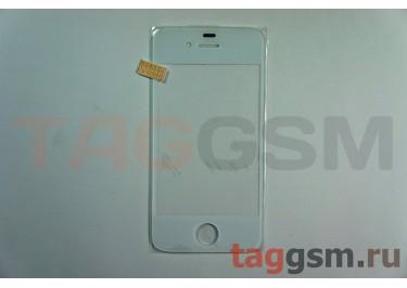Стекло для iPhone 4s (белый)