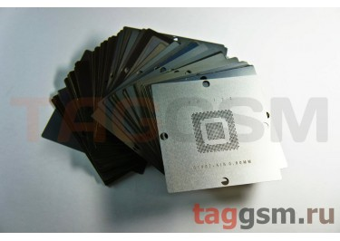 Набор универсальных трафаретов для ноутбуков, материнских плат и т.д. 90x90мм (комплект, 230шт)