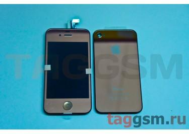 Дисплей для iPhone 4 + тачскрин + задняя крышка + кнопка Home (бронза)