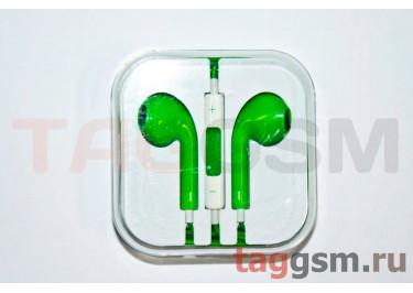 Гарнитура стерео для iPhone 5 зеленая