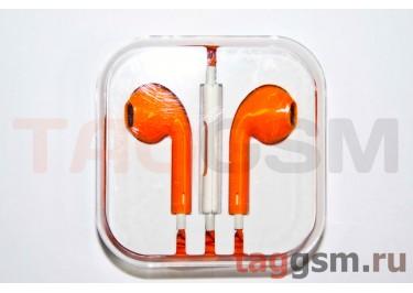 Гарнитура стерео для iPhone 5 оранжевая