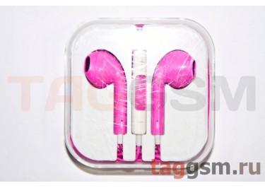 Гарнитура стерео для iPhone 5 розовая