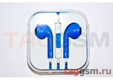 Гарнитура стерео для iPhone 5 синяя