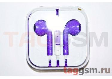 Гарнитура стерео для iPhone 5 фиолетовая