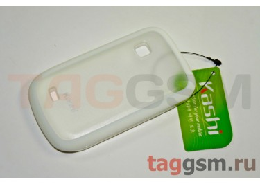Задняя крышка KSH Samsung S5670 силикон-пластик+защитная пленка белая