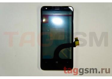 Тачскрин для Nokia 620 (черный) с рамкой, ОРИГ100%