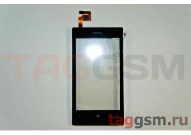 Тачскрин для Nokia 520 / 525 (черный) с рамкой, ОРИГ100%