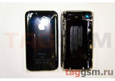 Задняя крышка для iPhone 3G 16GB в сборе с хром. рамкой (черный)