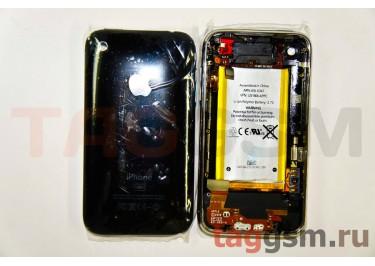 Задняя крышка для iPhone 3G 16GB в сборе с хром. рамкой + разъем заряд + разъем гарнит + АКБ(черный)