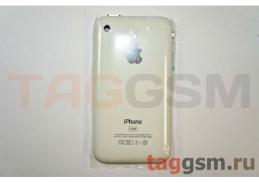 Задняя крышка для iPhone 3GS 32GB в сборе с хром.рамкой + разъем зарядки + разъем гарнит. (белый)