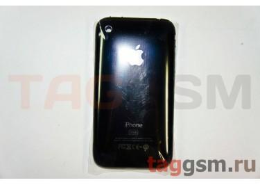 Задняя крышка для iPhone 3GS 32GB в сборе с хром.рамкой + разъем зарядки + разъем гарнит. (черный)