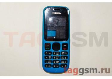 Корпус Nokia 100 со средней частью + клавиатура (синий)