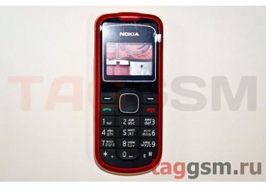 Корпус Nokia 1202 со средней частью + клавиатура (красный)