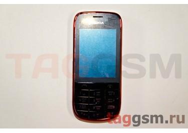 Корпус Nokia 202 со средней частью + клавиатура (красный)