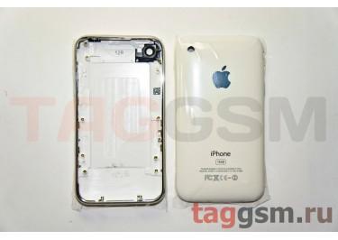 Задняя крышка для iPhone 3GS 16GB в сборе с хром.рамкой (белый)