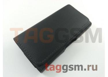 Чехол на ремень для Samsung G800F / LG H324 (121,6х64,4х11,6мм) (черный) техпак