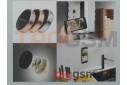 Автомобильный держатель (металл, пластик, на липучке, на магните) (чёрный с розовой вставкой) Earldom, EH18