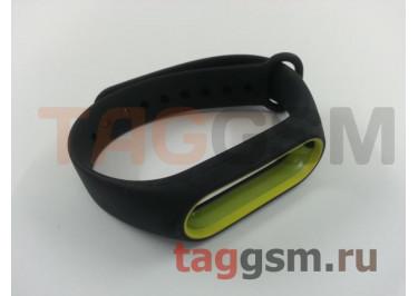 Браслет для Xiaomi Mi Band 2 (черный с желтым ободком)