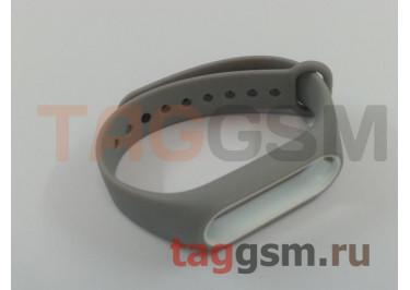 Браслет для Xiaomi Mi Band 2 (серый с белым ободком)