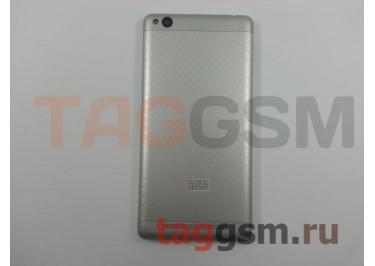 Задняя крышка для Xiaomi Redmi 3 (серебро), ориг