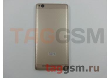 Задняя крышка для Xiaomi Redmi 3 (золото), ориг