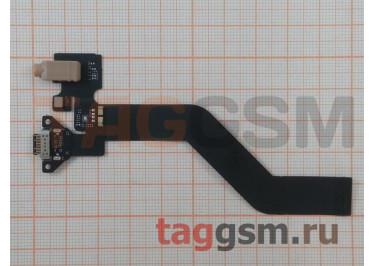 Шлейф для Meizu MX6 Pro + разъем зарядки + разъем гарнитуры + микрофон