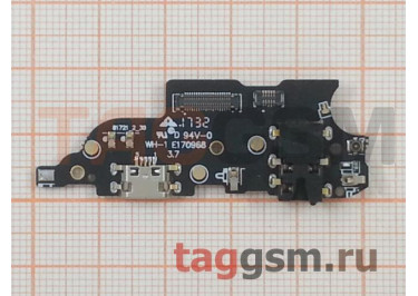 Шлейф для Meizu M6 Note + разъем зарядки + разъем гарнитуры + микрофон