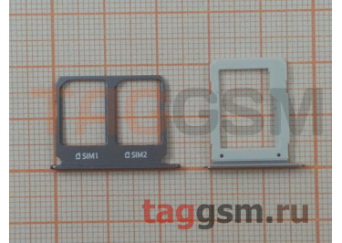 Держатель сим + держатель MicroSD карты для Samsung A9100 / A910 Galaxy A9 / A9 Pro (2016) (серый)