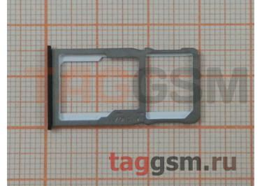 Держатель сим для Meizu M6 Note (черный)