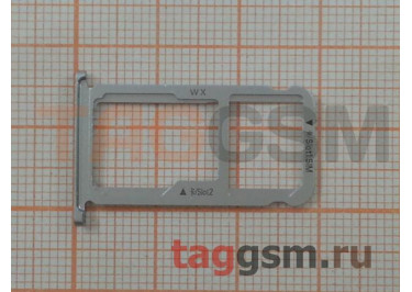 Держатель сим для Huawei Honor 6X (серебро)